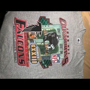 Vintage 1998 Atlanta falcons championship T-shirt
